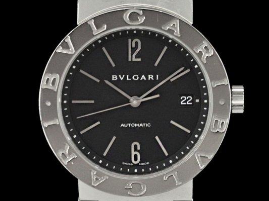 buy popular a5b6f 9baef ブルガリ ブルガリブルガリ BB38SS SS製 ブラックダイアル ...