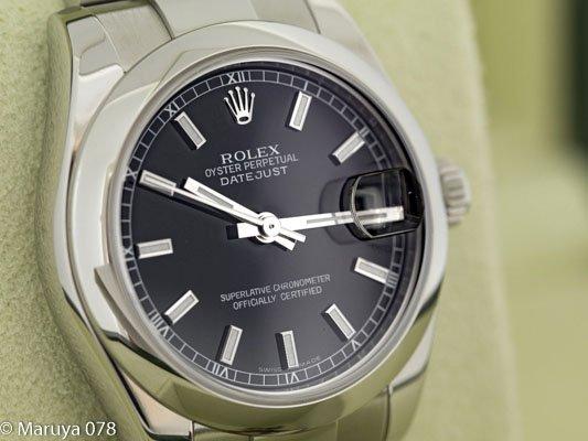 check out eadf0 ef0c9 ロレックス デイトジャスト 178240 SS製 ブラック ...